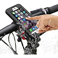 iPhone 6 Plus/7 Plus Bike Mount Waterproof Case, SGODDE One-button Released 360 Degrees Rotatable Shock Resistant IP68 Bicycle Mount Case for iPhone 6P/7P