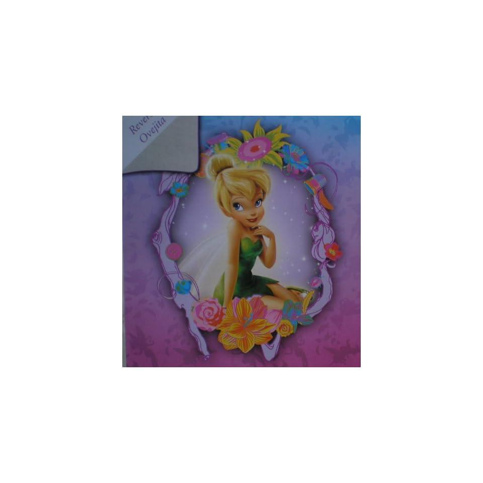 SUPER SOFT FAUX FUR / MICRO FIBER Disney Tinkerbell BLANKET super soft and warm Twin size