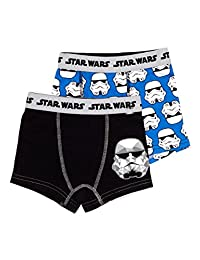 Star Wars Boxers for Boys | Pack of 2 Stormtrooper Boys Underwear | Size 4T