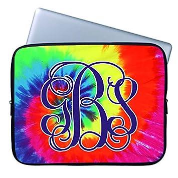 Funda pequeño ordenador portátil 10 Inch Art Tie Dye colores de ordenador para mujer moda Cool