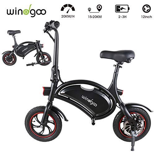 Windgoo Bicicleta Electrica 36V Plegable – E-Bike 12″, Actualizar Bici Electrica Urbana Ligera para Adulto