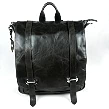 WWJ/ Casual chic one-shoulder slung her backpack baotou oil wax cow leather bag