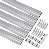 uxcell® 5Pcs CN-608 0.5m 52mmx7.8mm LED Aluminum Channel System w Cover for LED Strip Light Installations