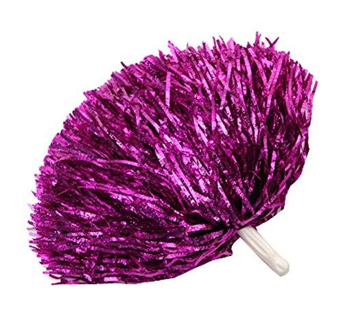 En Plastique Paire Poms Pom Pom Pom Rouge Poms Rose 1 amp; Métallique Foil Cheerleading vPCzwd