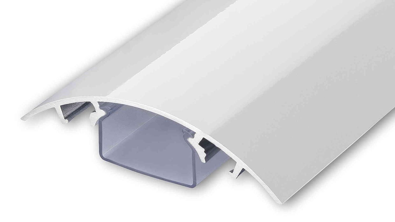 ALUNOVO Aluminium Kabelkanal hochglänzend, Länge 60 cm, weiß, HW90 ...