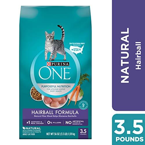 Purina ONE Hairball, Natural Dry Cat Food; Hairball Formula - 3.5 lb. Bag ()
