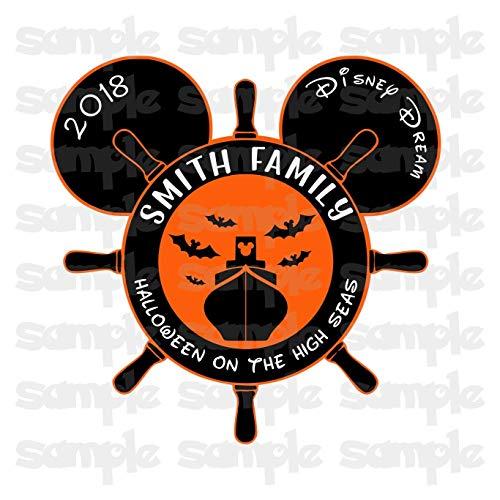 Disney Halloween Magnet | Halloween on the High Seas | Halloween Disney Cruise Magnet | Family Magnet For Cruise Door -