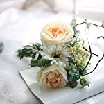 Artificial-FlowersNapoo-Silk-Leaf-Rose-Fake-Floral-2017-Hot-Sale-for-Decoration-White