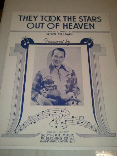 They Took the Stars Out of Heaven 1943 Sheet Music