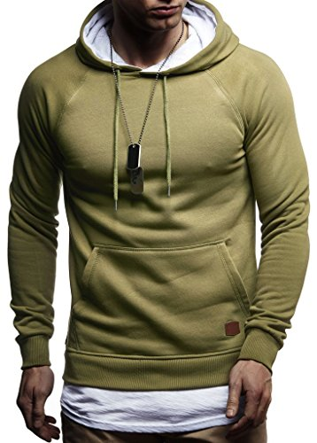 Capuche Pour Hoodie Khaki Des Sweatshirt Leif Pull À Nelson Ln8125 Hommes Pullover 2in1 AwTO0q