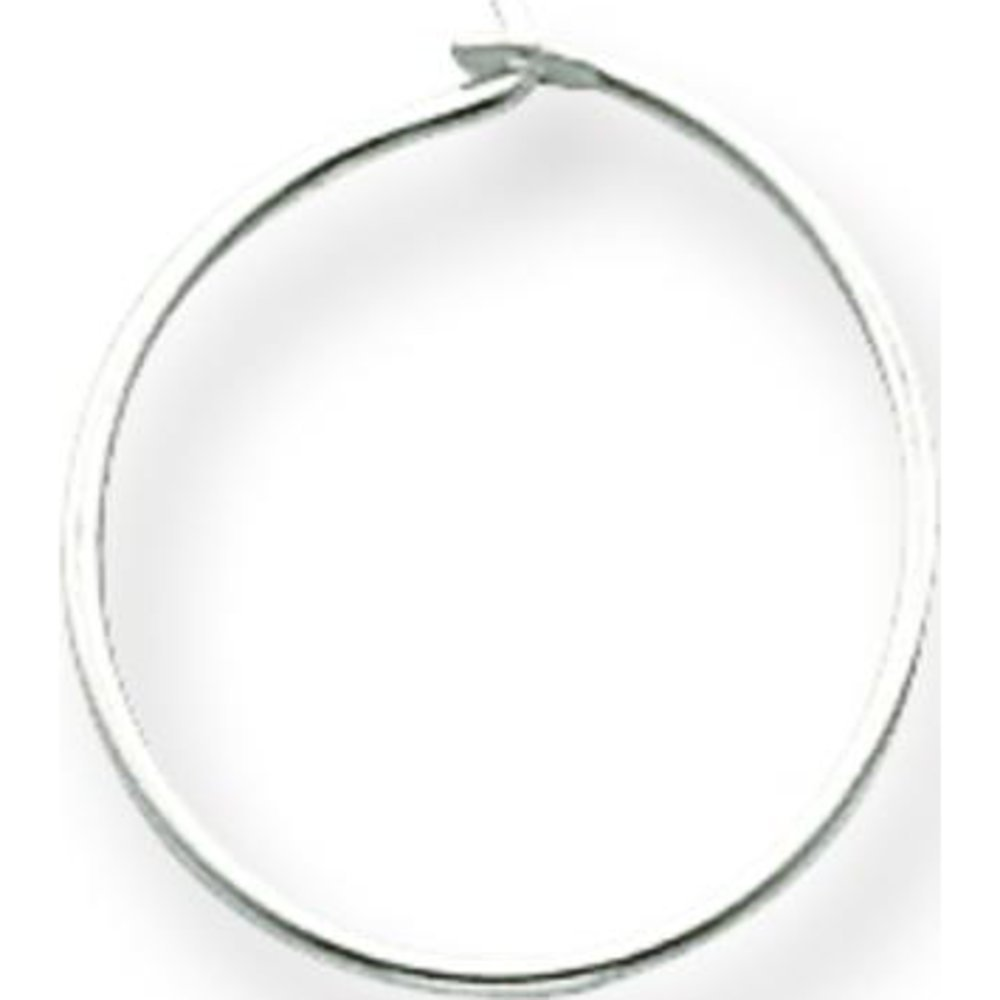Amazon.com: Sterling Silver Wire Hoop Earring SS3063