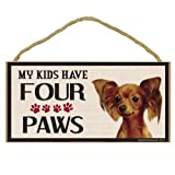 Imagine This Wood Breed Four Paws Sign, Toy Fox Terrier