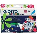 Giotto 4948 00 Decor Textile - Rotuladores para textil (funda para colgar, 6 colores)
