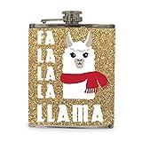Falalala Llama 7 fl oz Hip Christmas Holiday Drink Flask