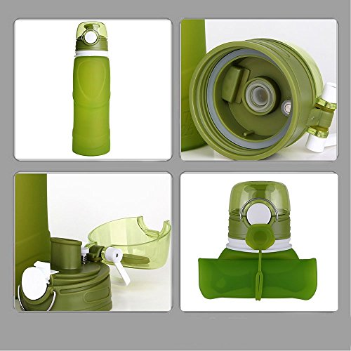 MyFriday Travel Collapsible Water Bottle 750ml/500ml Silicone