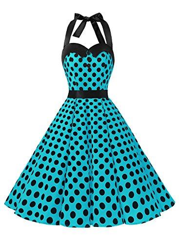 da anni party in rockabilly vestito fascia retrò cocktail Dressystar fiori '50 con stile a vita wpxXqa