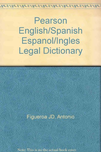 Supplement: Pearson English/Spanish Espaol/Ingl's Legal Dictionary - Legal Terminology 4/E