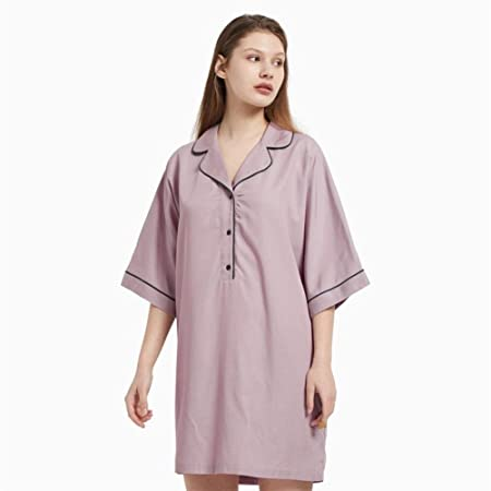 LUOSI Pijama Camisón Mujer Las Mujeres De Manga Corta Camisa De Dormir Camisón Primavera Verano Otoño Ropa De Dormir De Algodón Estudiantes De Niña Pijamas Camisón Inicio Servicio De Chándal: Amazon.es: Hogar