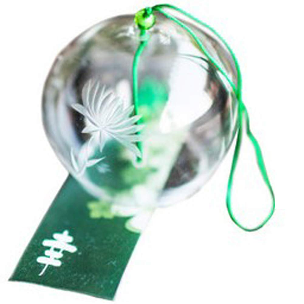 Japanese Wind Chimes Handmade Glass Wind Bells Birthday Gift Valentine's Day Gift Home Decors Wind Chimes Spa Decor Kitchen Decor Office Decor Hand-painted Snowflake Ltd. ZG-032