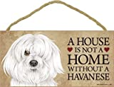 (SJT63984) A house is not a home without a Havanese wood sign plaque 5