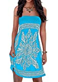 Inital Women's Bikini Coverup Floral Print Bohemian Beach Dress Cover-up for Women Swimwear Coverup