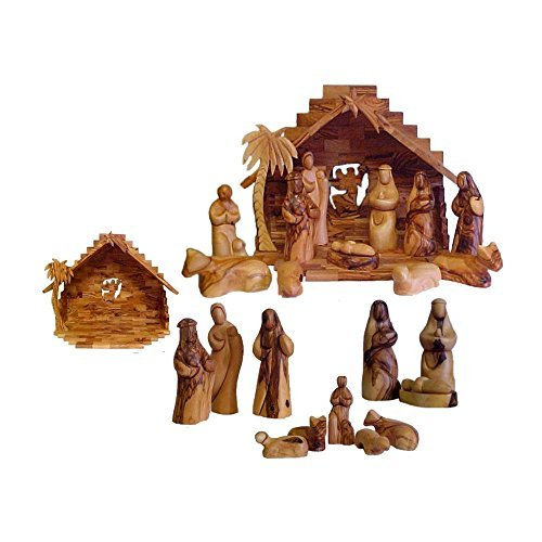Bethlehem Faceless Olive Wood Nativity Set Pack Of 1 by Bethlehem Lighting