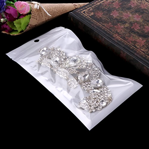 SELFON 100pcs Clear Plastic Bag Grip Self Seal Resealable Ziplock Packing Bags For Jewelry Cosmetics Candy Food Medications Storage ect - Mini Bags Zipper Grip
