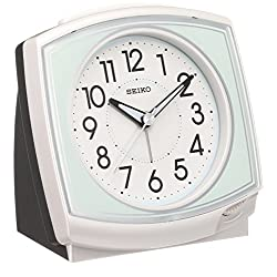 SEIKO CLOCK ( Seiko clock ) Standard analog quartz alarm clock angle ( white ) KR891W