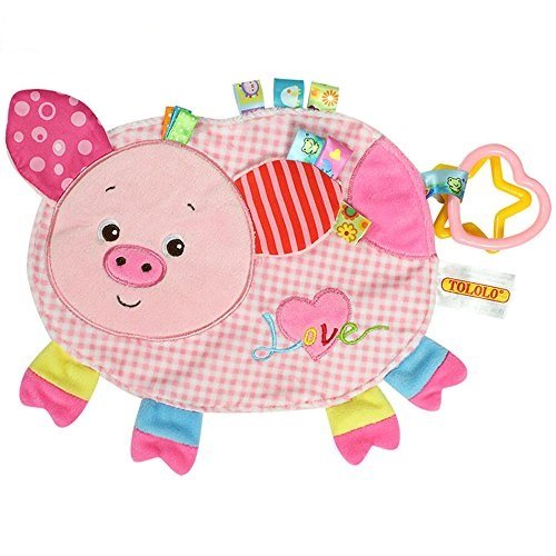 - TOLOLO Cartoon Animals Plush Toys Baby Sleeping Toys Newborn Children to Appease Towel Cloth Can Bite (Piggy)