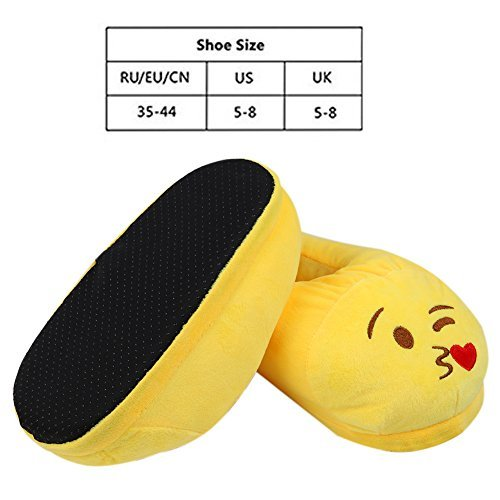 Xiujanet Emoji Cute Cartoon Slippers Warm Stuffed Funny Slippers Household Indoor for Women and Men (poop)
