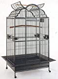 New Extra Large Castle Open Dome PlayTop Parrot Cage - 32 W x 23 L x 69 H for Large Bird Macaws Cockatoos African Grey Amazon Larger Image