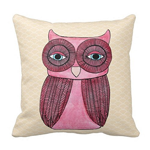 COMI Girly Funky Modern Owl Art Cushion Pillow Covers 20