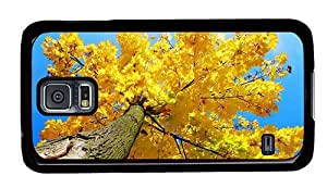 Hipster Samsung Galaxy S5 Case stylish yellow maple tree autumn PC Black for Samsung S5 by runtopwell