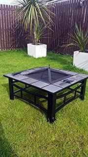 iKayaa Garden Fire Pit Patio Firepit Barbecue Fireplace Amazonco