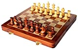 16'' x 16″ Collectible Wooden Folding Chess Game Board Set+Wooden Magnetic Crafted Pieces (Delivery < 7 Days)
