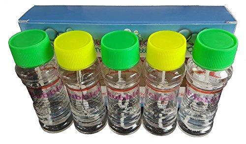 BubbleLick Edible Bubbles, Pack of 5 Bottles For Parties, Unique Gifts