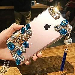 Blue Rhinestone With TPU Mobile Case