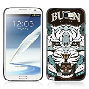 Designer Depo Hard Protection Case for Samsung Galaxy Note 2 N7100 / Cool Tiger Tattoo Badge by icecream design