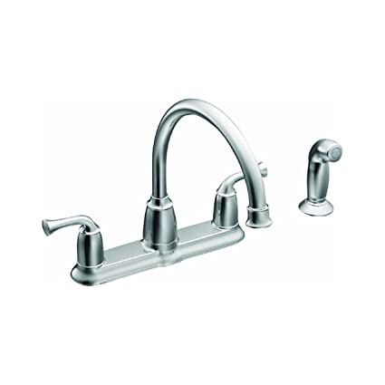 resist resistreg one moen reg faucet spot handle ca soap kendall pull kitchen with steel faucets down dispenser stainless