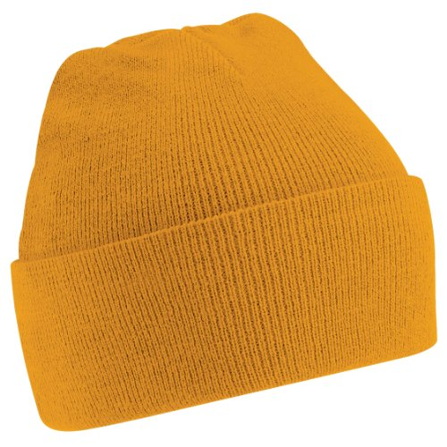 Beechfield Soft Feel Knitted Winter Hat (One Size) (Mustard)