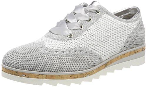 Brogue Mujer Cordones De 23707 white Comb Tozzi Zapatos Marco Blanco Para 0fgXIq
