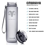 Best Sports Water Bottle - 32oz Large - Fast Flow, Flip Top Leak Proof Lid w/ One Click Open - Non-Toxic BPA Free & Eco-Friendly Tritan Co-Polyester Plastic