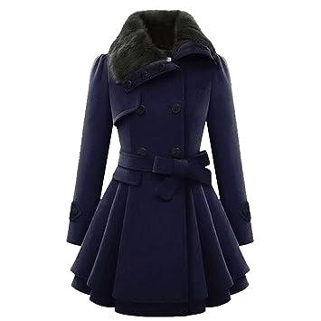 suche nach dem besten viel rabatt genießen neue Version Comcrib Damen Klassische lang Wintermantel, Vintage ...