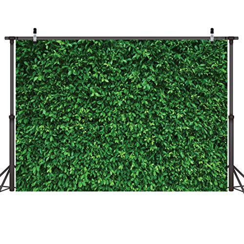 LYWYGG 7x5FT Green Leaves Photography Backdrops Mmicrofiber Nature Backdrop Birthday Background for Birthday Party Seamless Photo Booth Prop Backdrop -