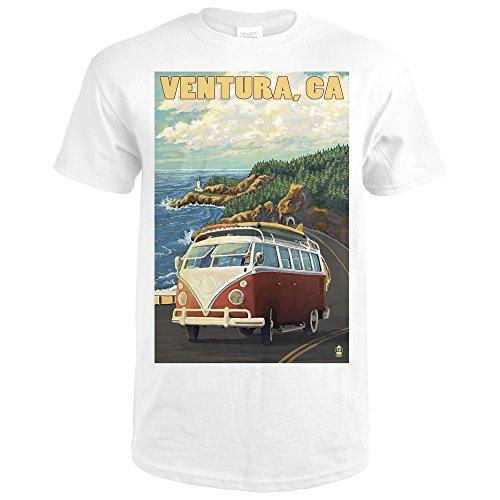 Ventura  California   Vw Van Drive  Premium White T Shirt Xx Large