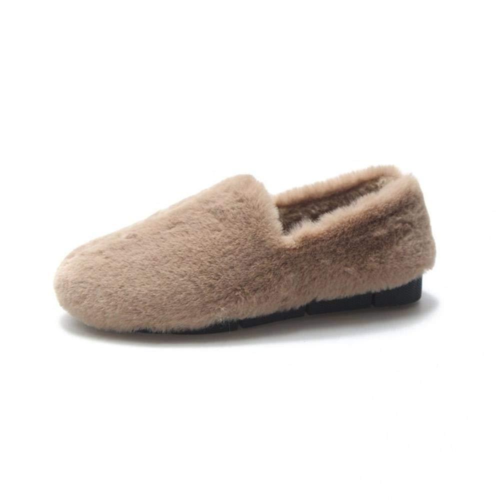 Nyrgyn Winterschuhe Aus Baumwolle Mit Flachem Boden Wilde Warme Skischuhe Für Faule Schuhe