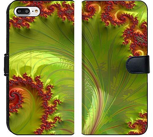Apple iPhone 8 Plus Flip Fabric Wallet Case Image of Abstract Background Texture Fractal Art Illustration Design Color Wallpaper Fantasy Light Space Digital