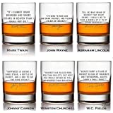 Whiskey Lover Famous Etched Quote Glass Set