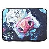 Business Briefcase Laptop Sleeve Cow Print Case Cover Handbag For 13 Inch Macbook Pro Air Lenovo Hp Samsung Sony