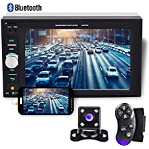 """Camecho 2 din Car Multimedia Player 1080P Full HD 6.2"""" LCD Touch Screen Car Stereo Radio Audio MP5 Player Steering Wheel Control Backup Camera Support Bluetooth TF USB FM & Android Phone Mirror Link"""